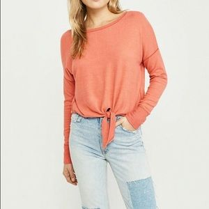 Abercrombie & Fitch Cozy Tie Front Top